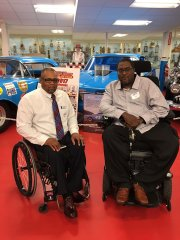 Aaron Claude and Robert Satterwhite (Mid-Atlantic Chapter president of Paralyzed Veterans)