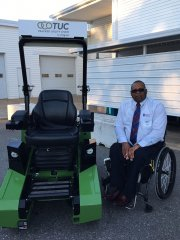 The TUC next to Robert Satterwhite (Mid-Atlantic Chapter president of Paralyzed Veterans)